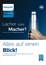 Philips LED Kompaktübersicht September 2017